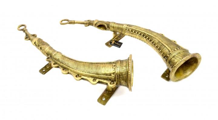 Shehnai Design Brass Door Handle Pair (2 pcs)