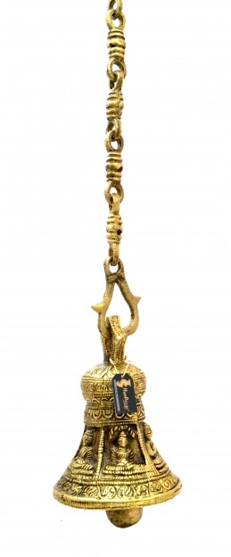 Buddha Design Brass Hanging Bell