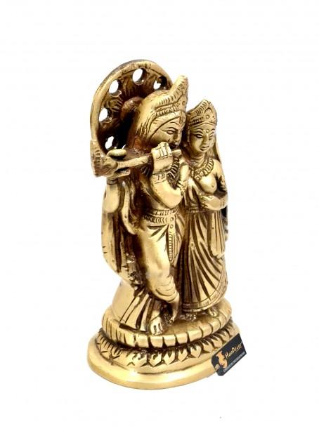 Radha Krishna 5 Inches Brass Statue