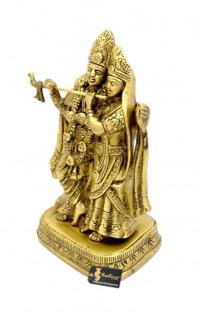 Radha Krishna 8 inches Brass Showpiece