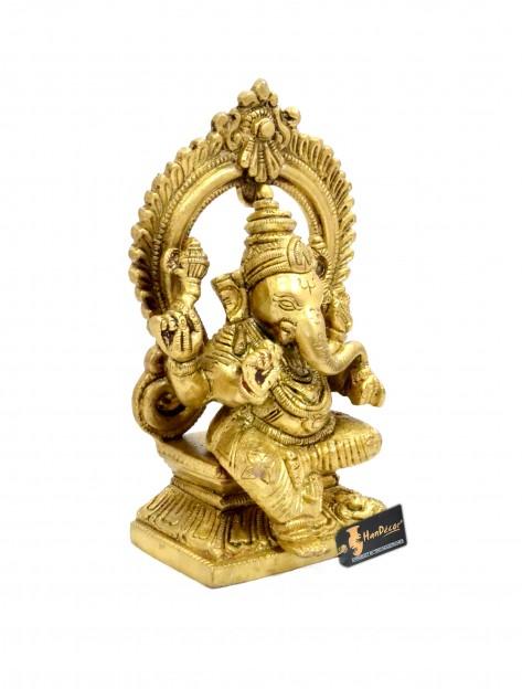 Aashirwaad Ganesha Premium Brass Statue