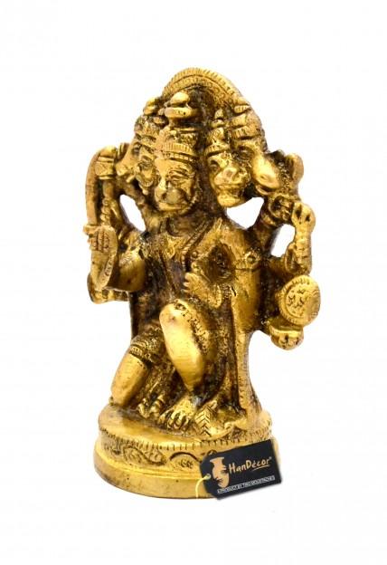 Panchmukhi Hanuman 4 inches Brass Idol