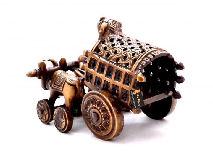 Traditional Village Bullock Cart Royal Brown Showpiece