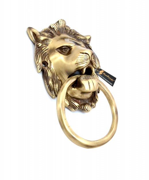 Brass 6.5 inches Lion Door Knocker