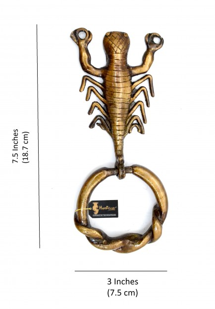 Scorpion Design Royal Brown Brass Door Knocker
