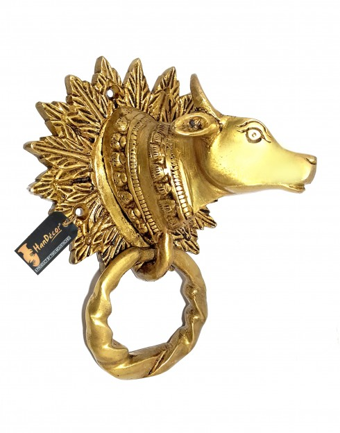 Cow Face Brass Door Knocker