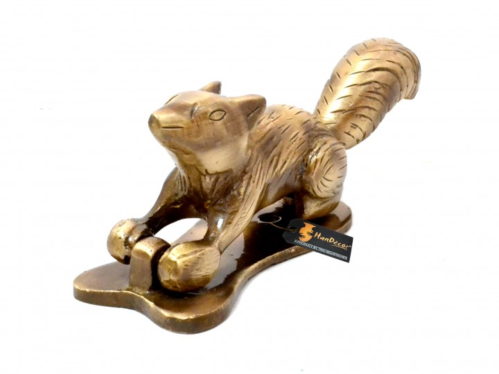 Squirrel Design Brass Door Knocker