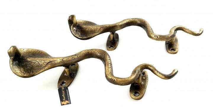 Snake Design Brass Door Handle