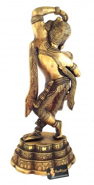 Brass Apsara Applying Vermillion Showpiece