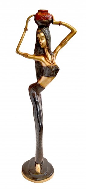 African Tribal Lady Showpiece