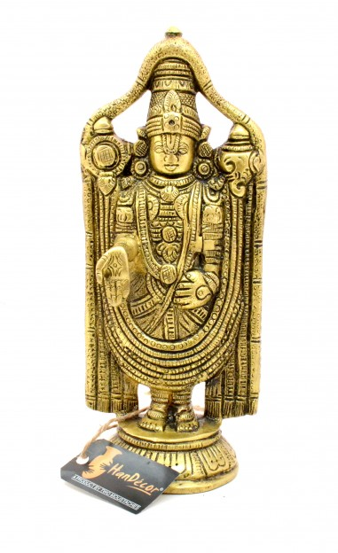 Balaji 7.5 Inches Round Base Brass Statue
