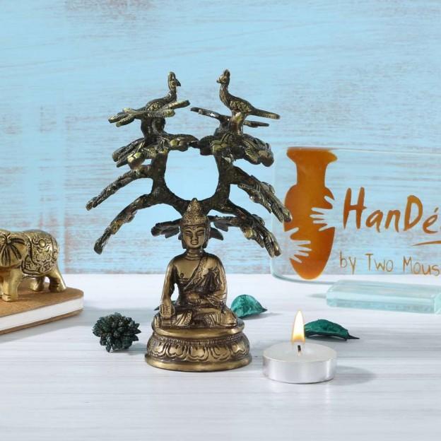 Meditating Buddha Under Tree