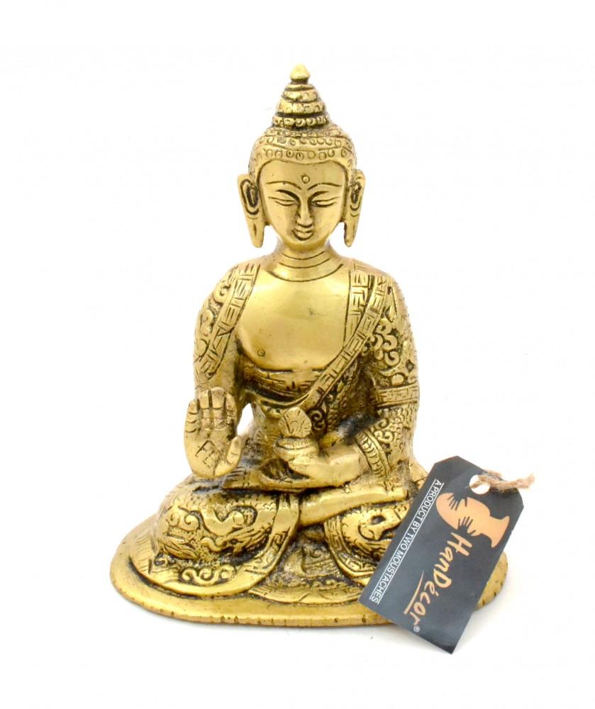 Buddha in Aashirwaad Mudra Brass Statue