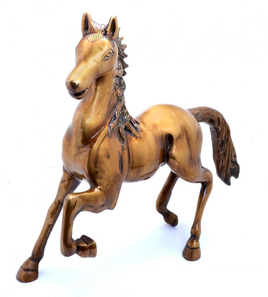 Horse Showpiece - Golden