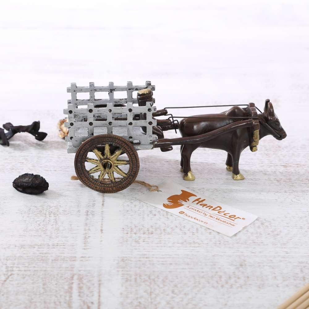 Brass Bullock Cart Showpiece