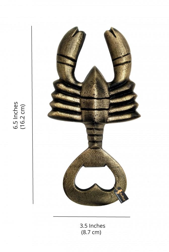 Scorpion Design Bottle Opener - Antique Brown