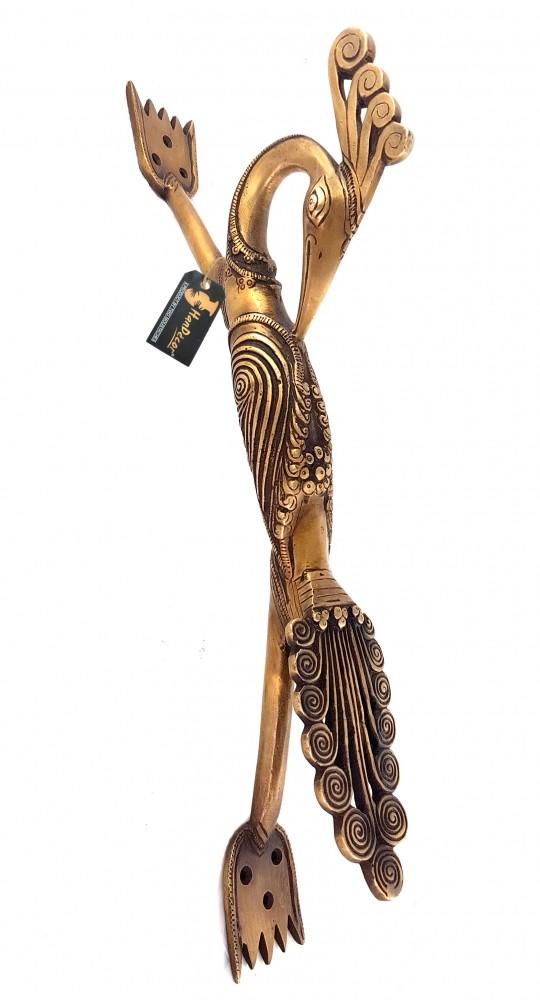 Peacock Design 16 Inches Brass Door Handle