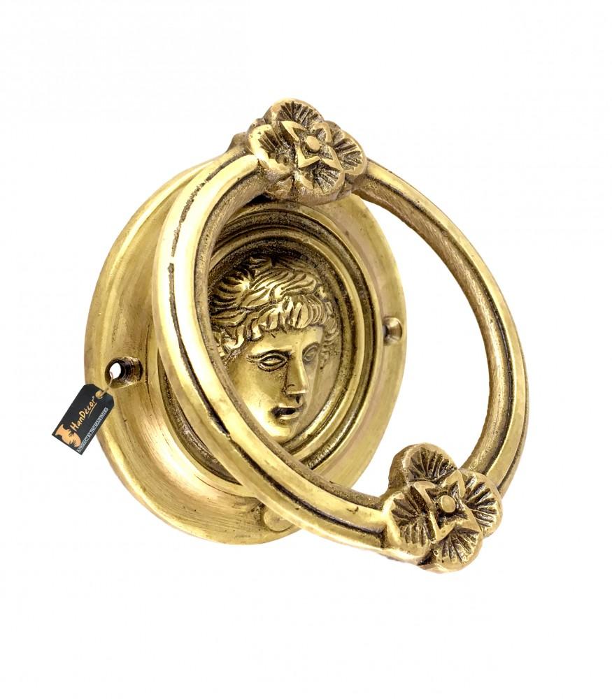 Athena Design Brass Door Knocker - Antique Yellow