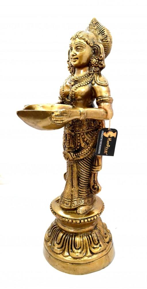 Deep Lakshmi 16 Inches Brass Statue