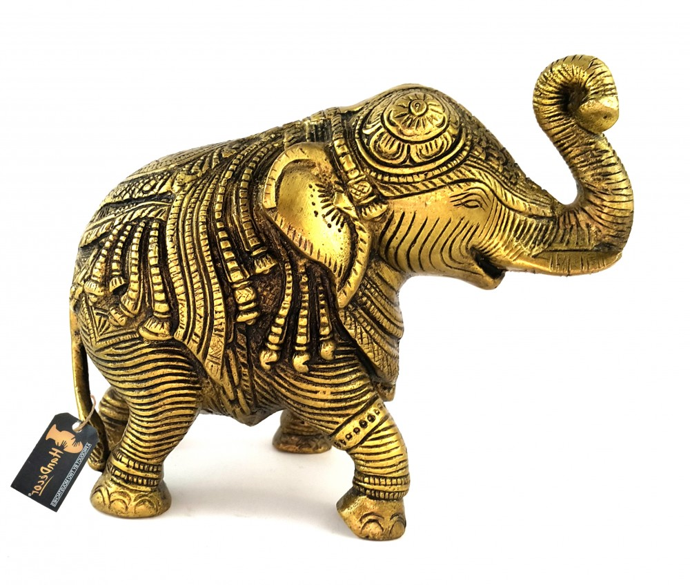 Ethnic Indian Handcrafted Elephant Brass Showpiece