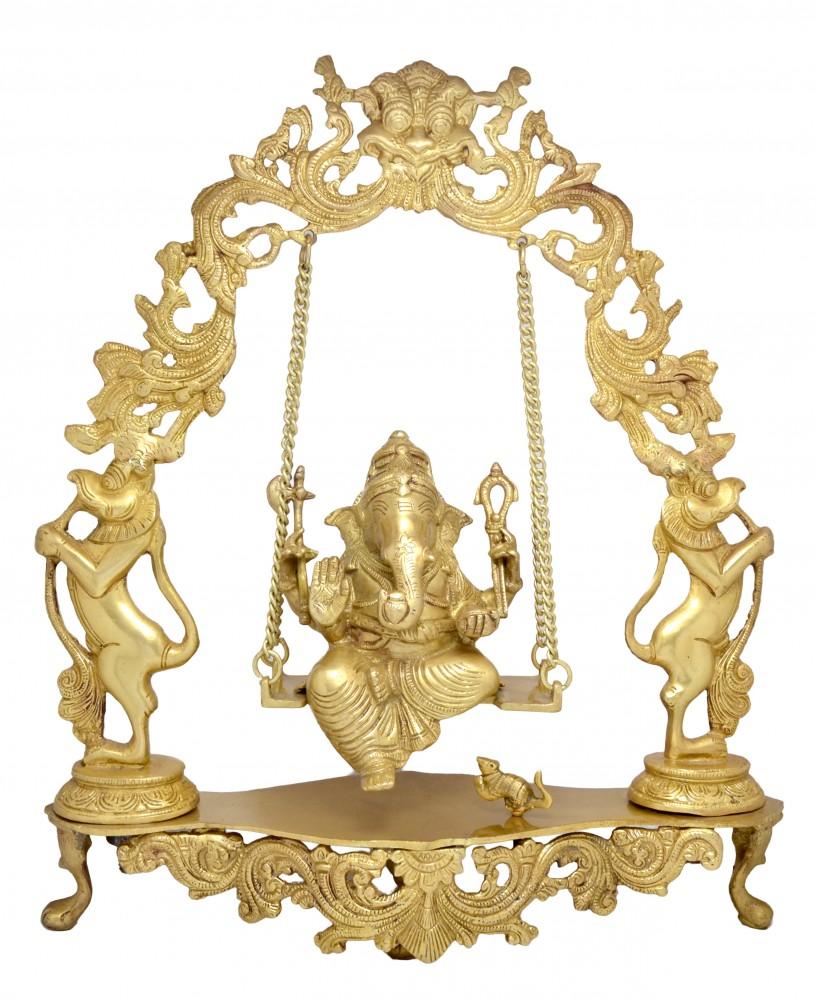 Handcarved Lord Ganesha on Jhoola