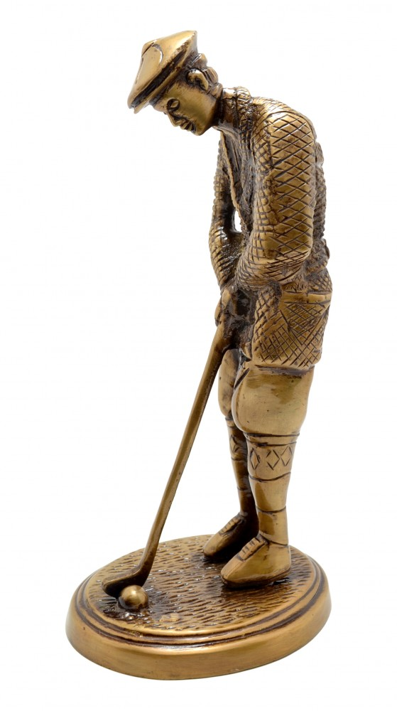 Golfer Figurine Golden