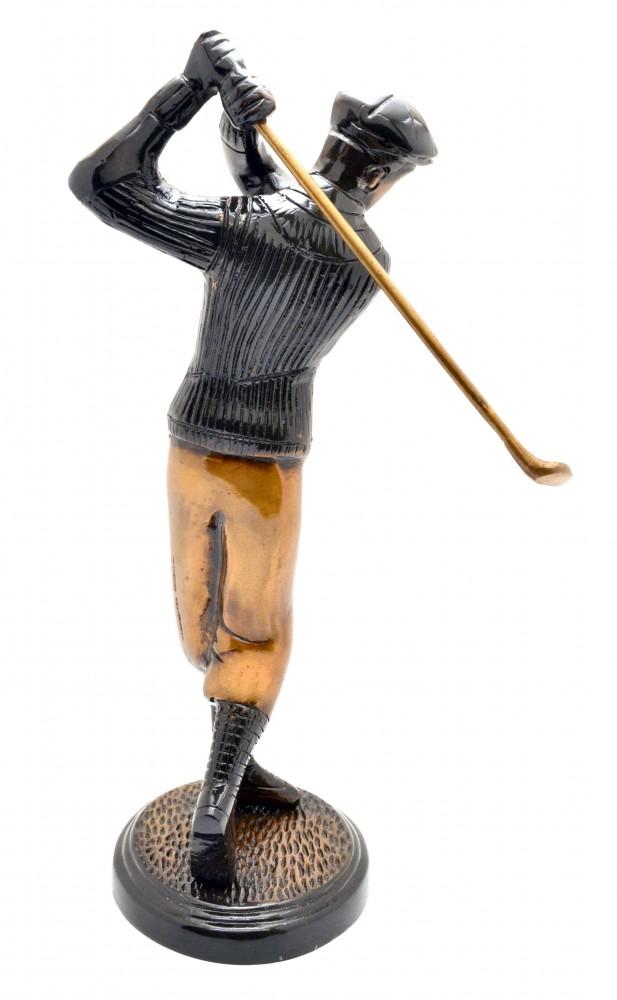 Golfer Shot Figurine Black