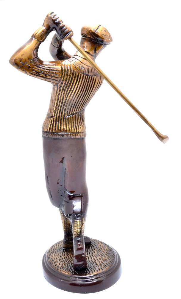 Golfer Shot Figurine Golden