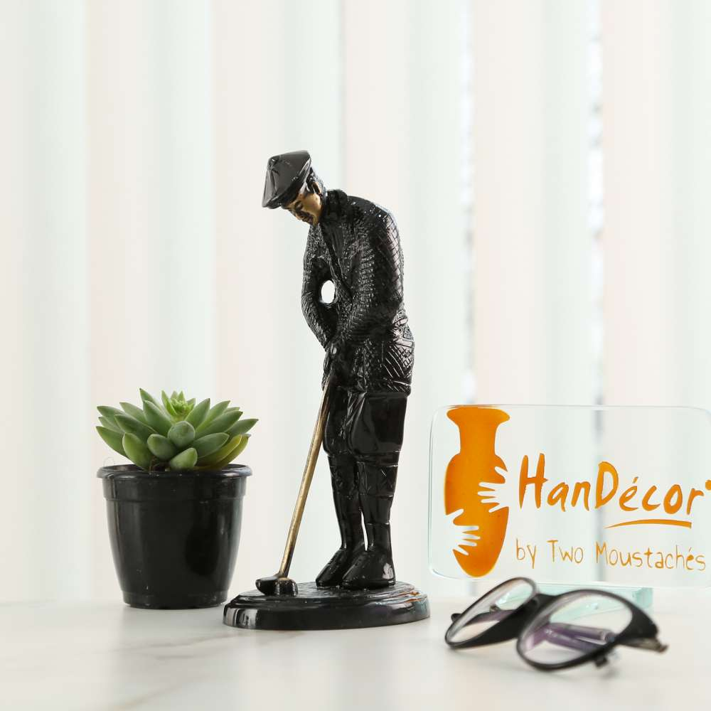 Golfer Figurine Black