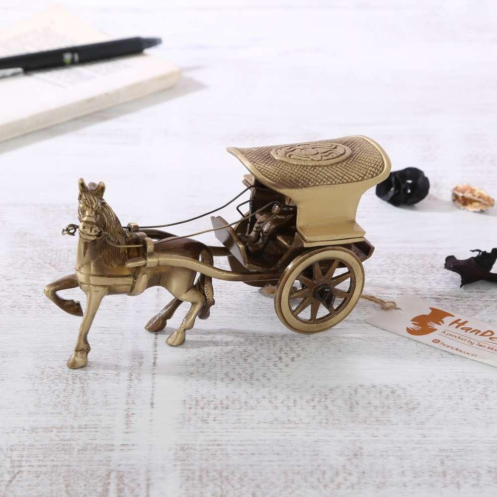 Brass Horse Cart Big