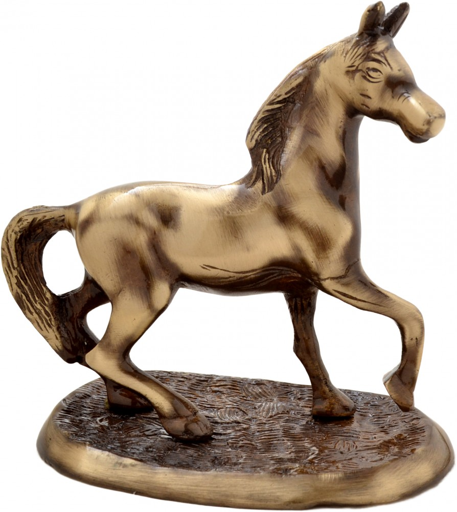 Showpiece Horse On Plate