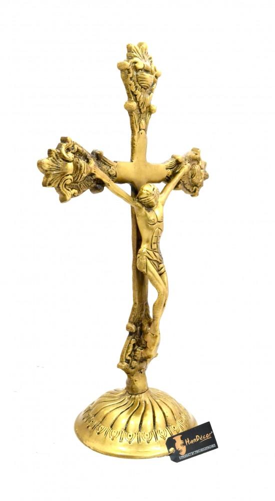 Lord Jesus on Cross Brass Statue