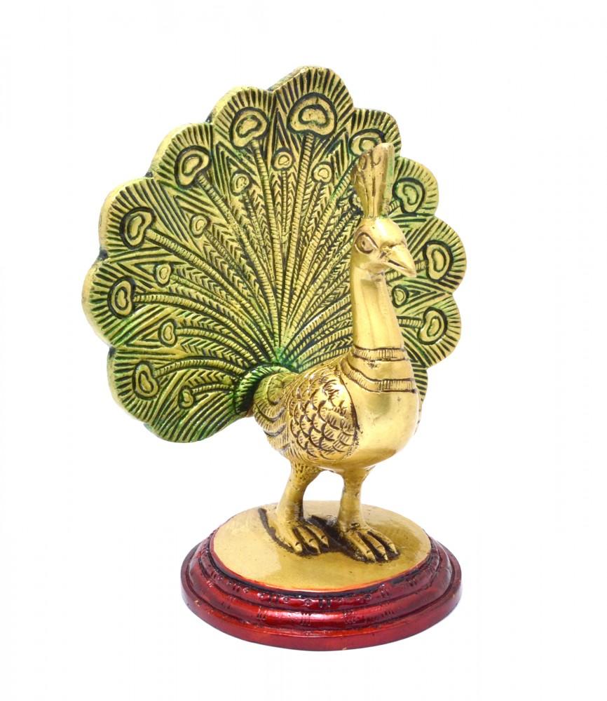 Brass Dancing Peacock Showpiece