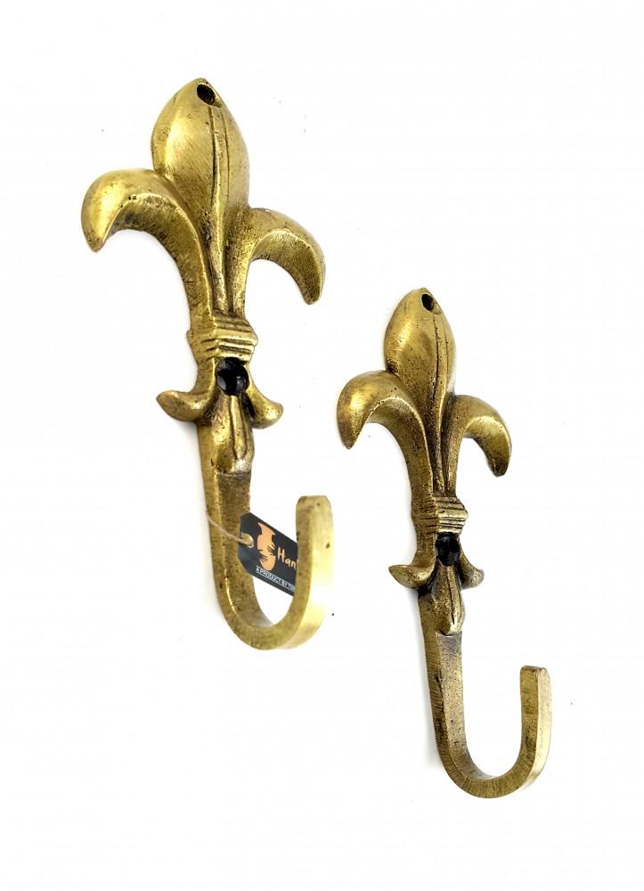 Victoria Design Brass Single Key Hook/Holder - Set of 2
