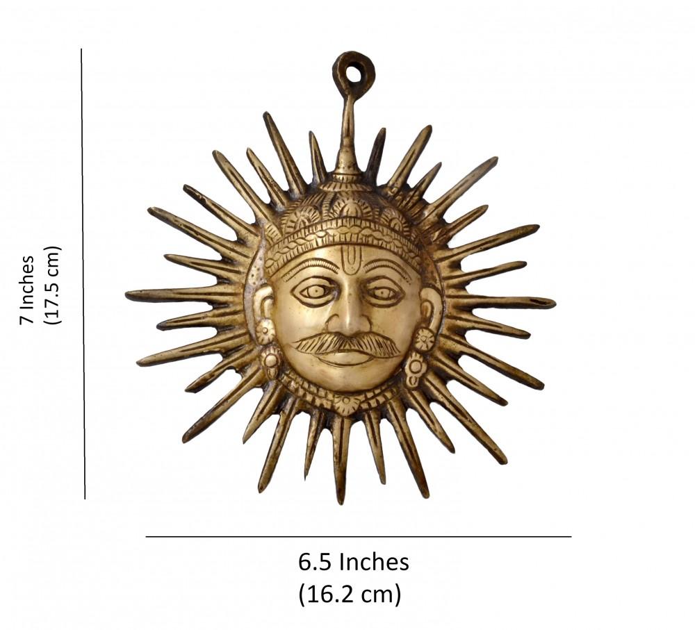 Brass Surya Wall Hanging