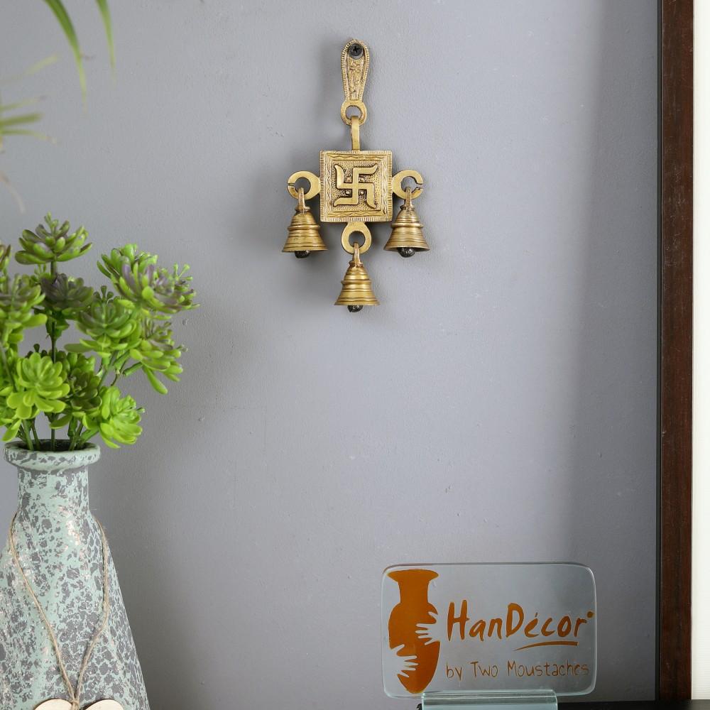 Brass Swastika Hanging Bells