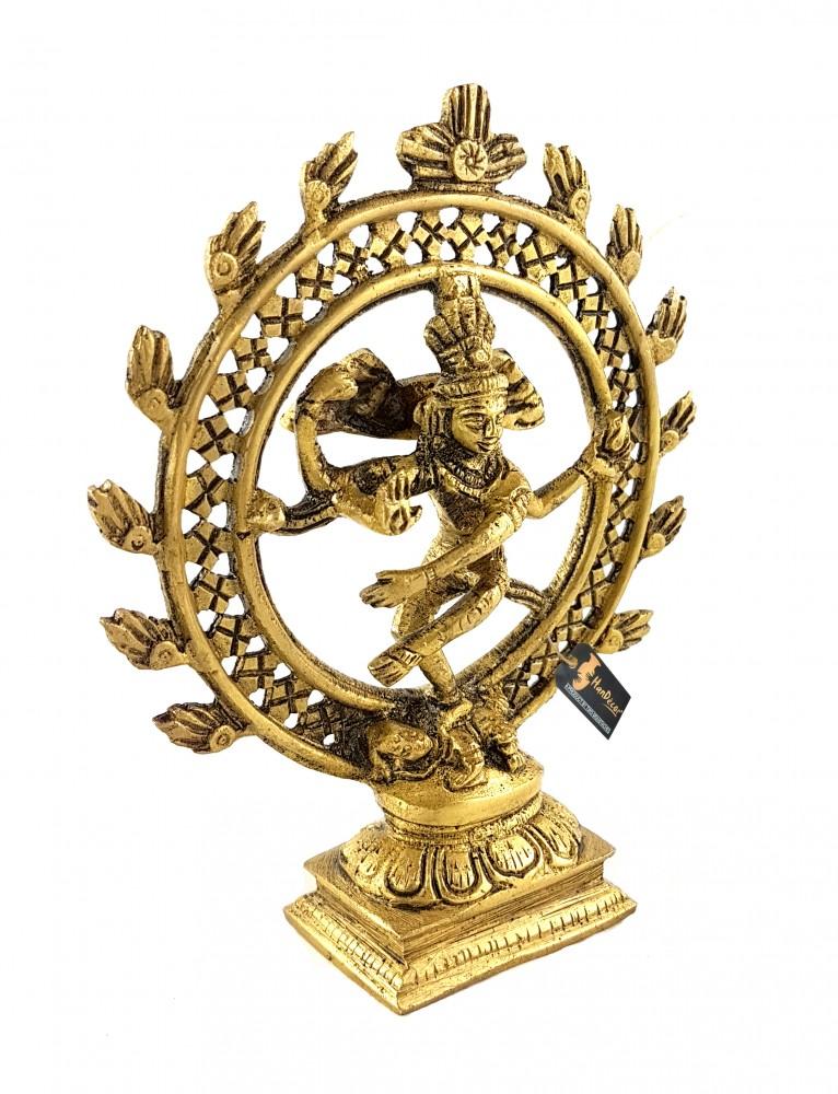 Natraj 6 Inches Brass Statue