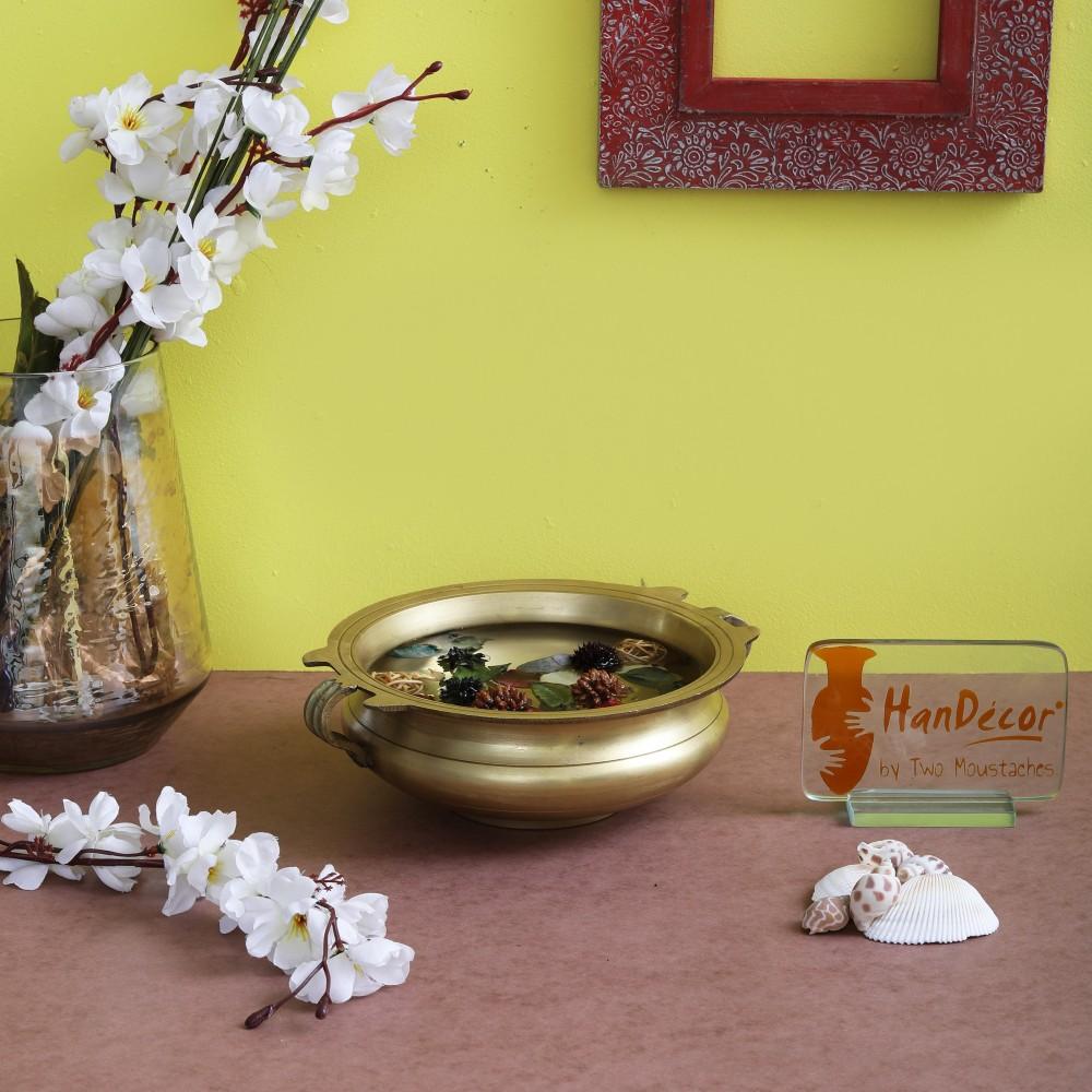 Brass Urli Traditional Bowl Showpiece