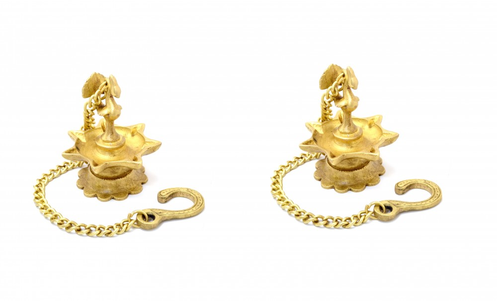 Brass Traditional Deepak with Chain