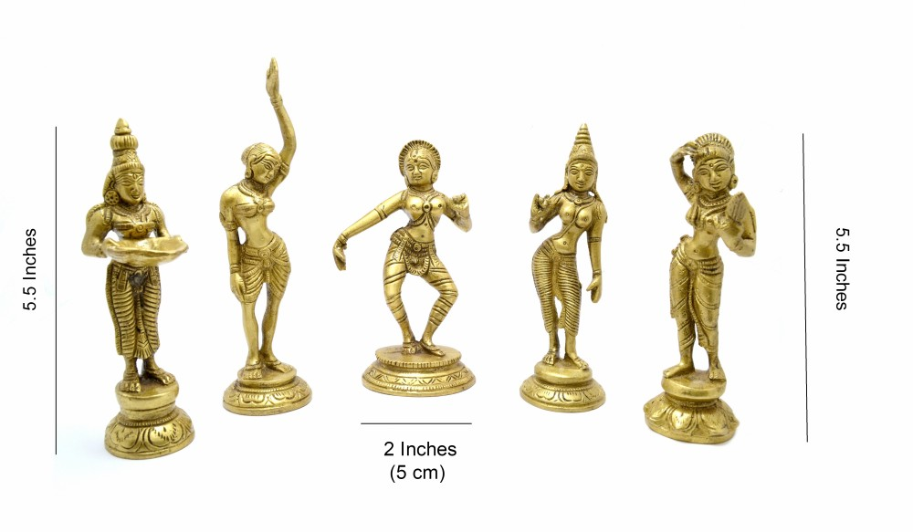 Brass Apsara Set