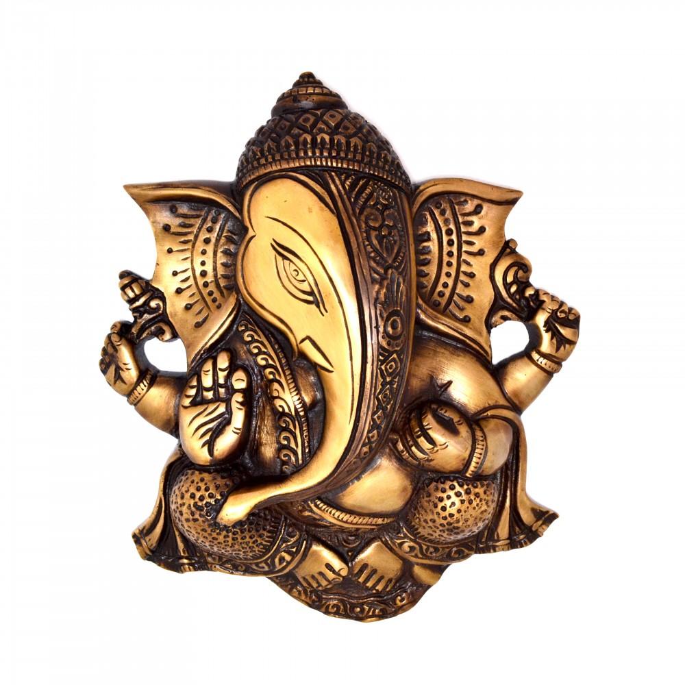 Ganesha Wall Hanging Brown Showpiece