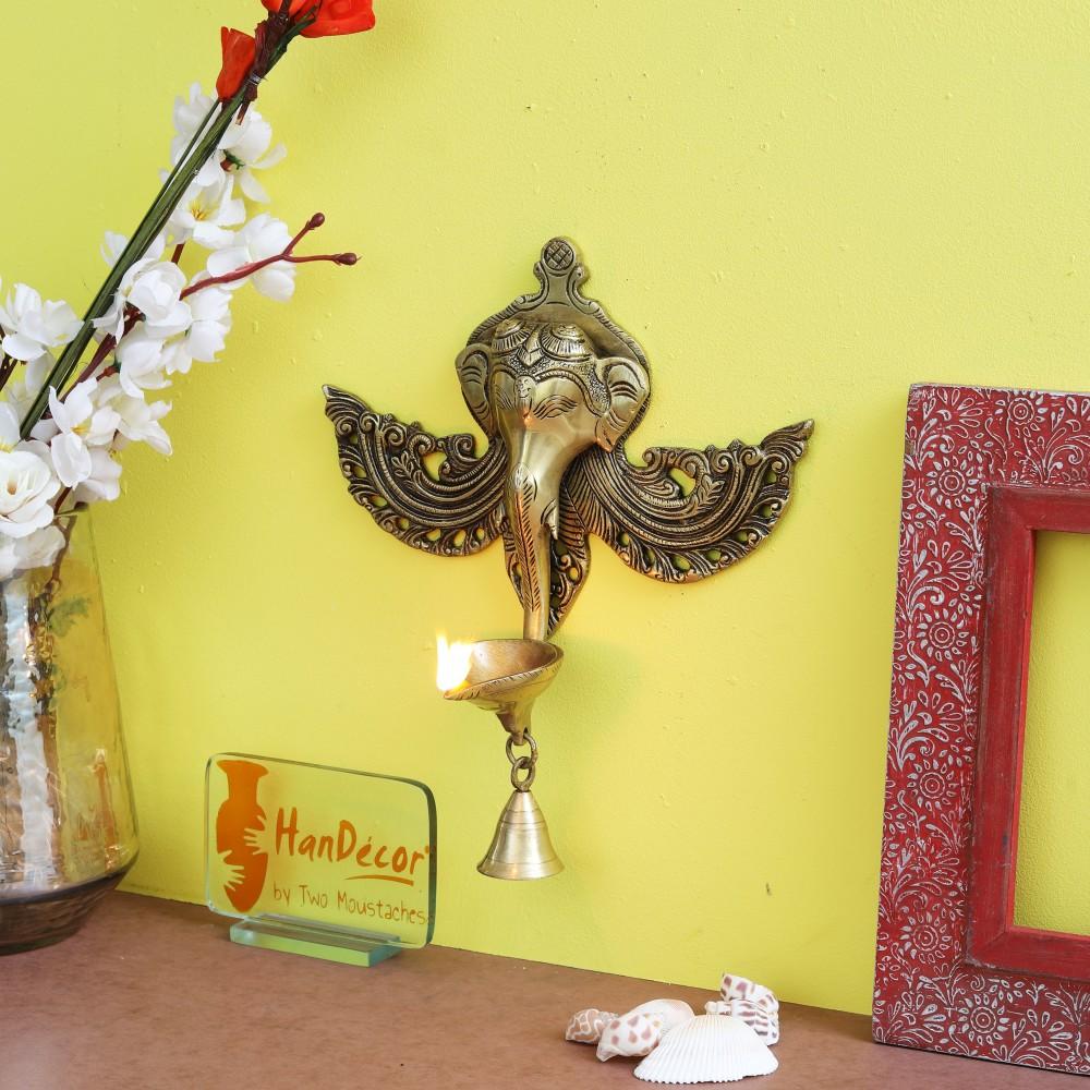 Ganesha Oil Lamp Wall Hanging