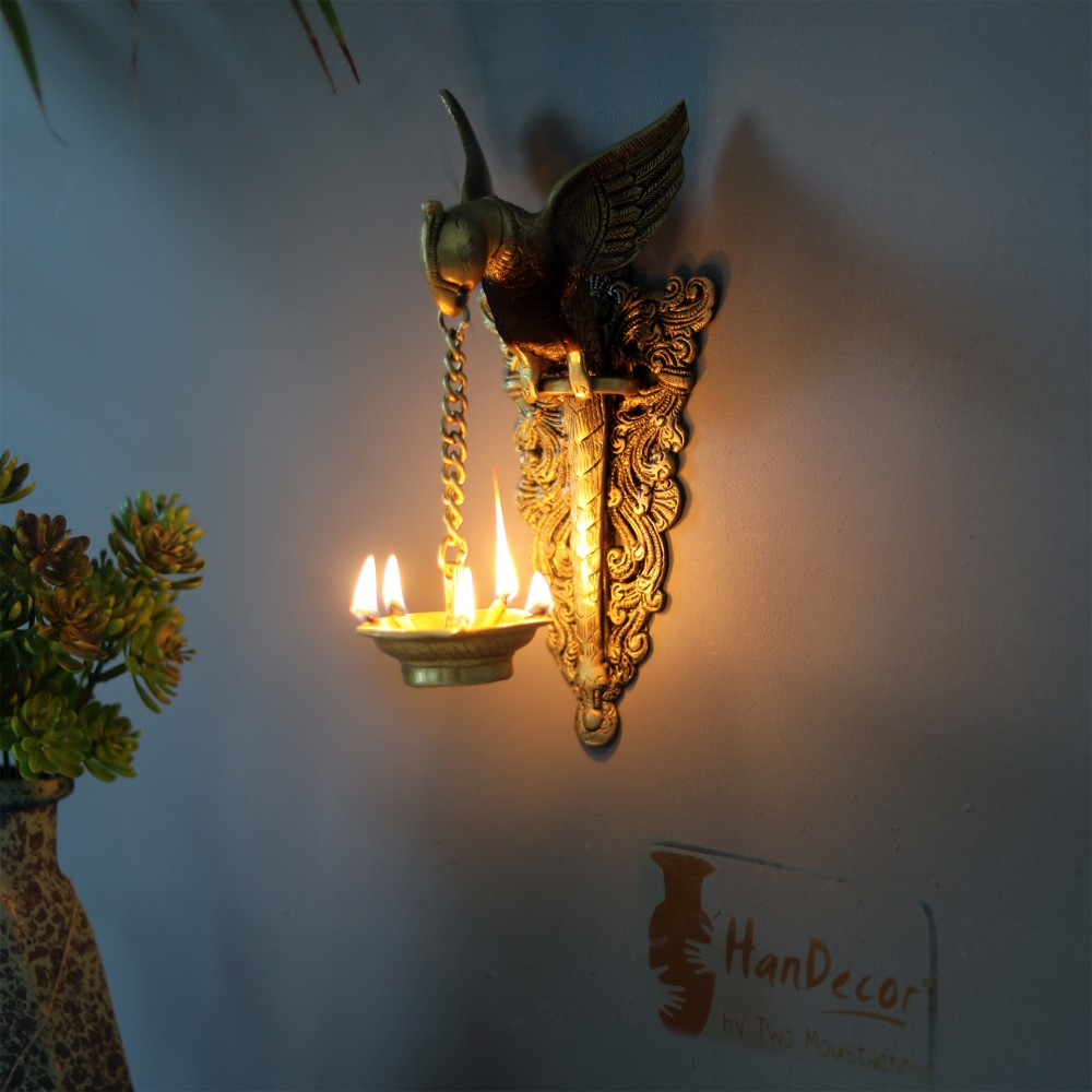 Parrot Design Wall Hanging Diya