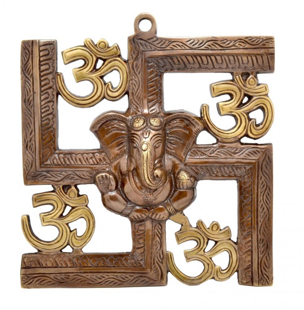 Swastika Om Ganesha Wall Hanging