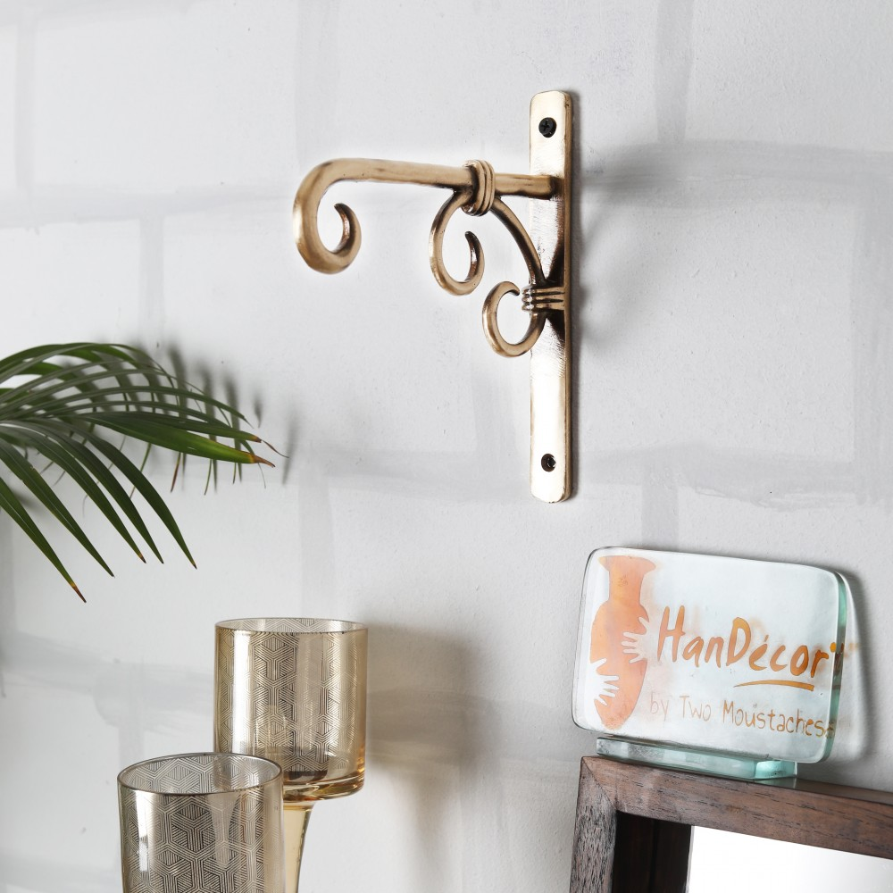 Handmade Brass Wall Lantern Diya Hanger