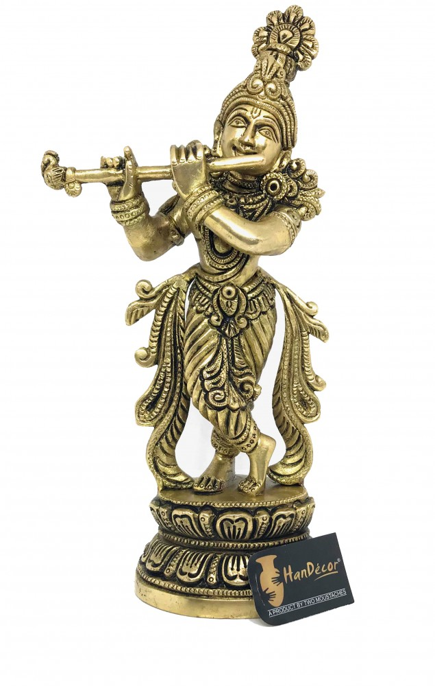 Premium Brass Murli Krishna Statue