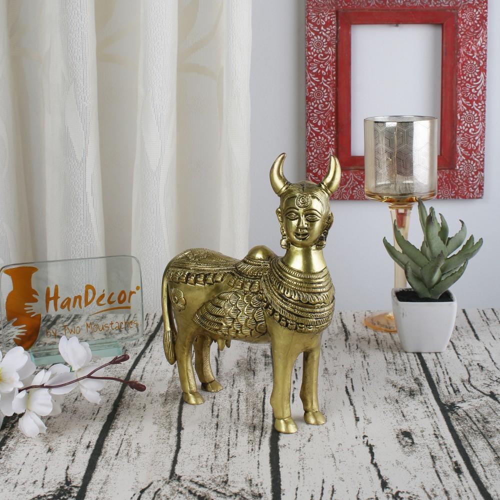 Brass Holy Kamdhenu Cow Statue