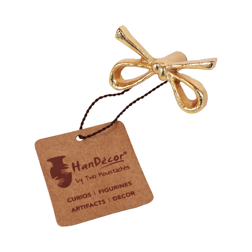 Tie Knot Design Cabinet/Wardrobe Knobs (Golden, Pack of 6)