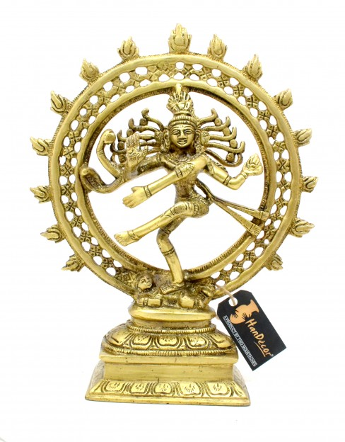 Divine Lord Natraj 9 Inches Brass Showpiece