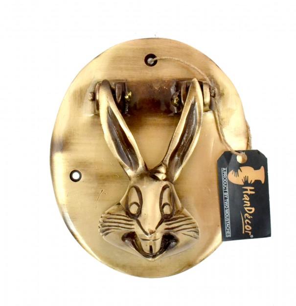 Rabbit Design Brass Door Knocker